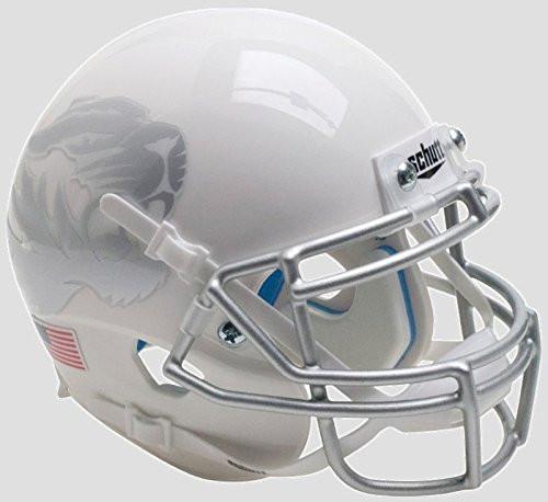 Missouri Tigers Alternate White Metallic Silver Schutt Mini Authentic Football Helmet