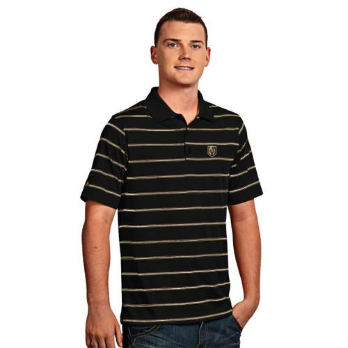 Las Vegas Golden Knights Men's Black Midas Gold Deluxe Polo Shirt