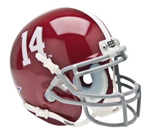 Alabama Crimson Tide #14 Schutt Mini Authentic Helmet