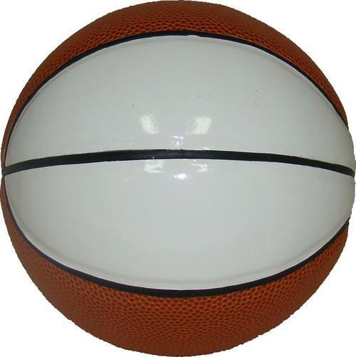 Dozen - Mini Two White Panel Autograph Basketballs by Spalding