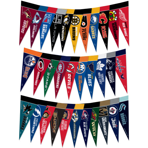 Picture of NHL Mini Pennant Set all 32 Teams including the Seattle Kraken