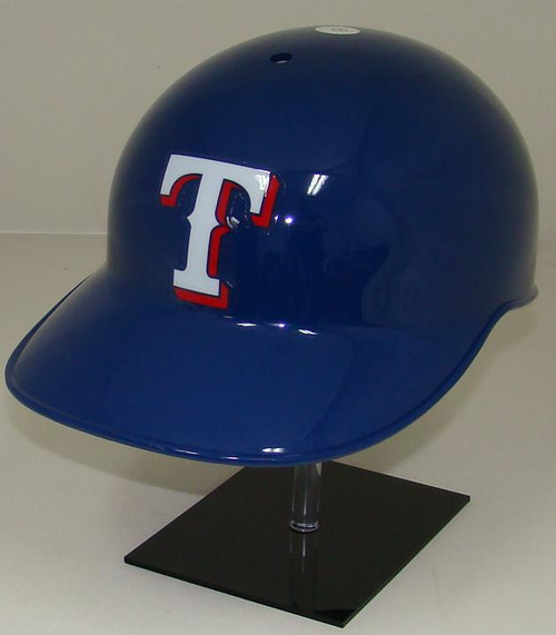 Texas Rangers Blue Rawlings NEC Full Size Baseball Coaches or Catchers Batting Helmet