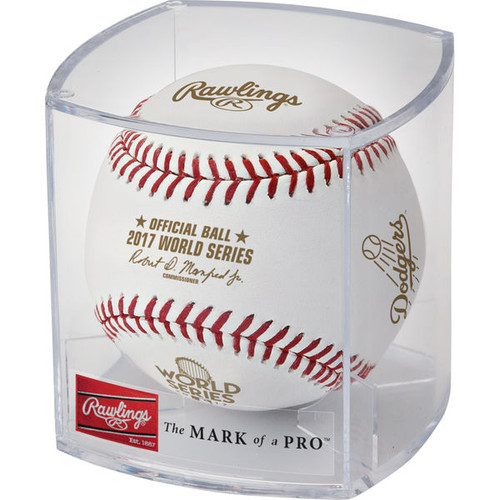 Houston Astros vs. Los Angeles Dodgers Rawlings 2017 World Series Dueling Baseball in Cube