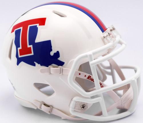 Louisiana Tech Bulldogs White Revolution SPEED Mini Helmet