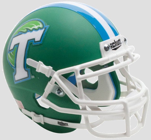 Tulane Green Wave Alternate Green Schutt Mini Authentic Football Helmet
