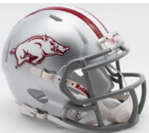 Arkansas Razorbacks 2017 Silver Tribute Revolution SPEED Mini Helmet