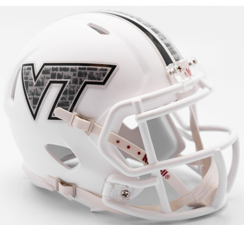 Virginia Tech Hokies 2017 Stone Decal NCAA Riddell Speed Mini Helmet