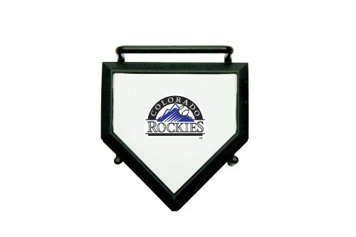 MLB Colorado Rockies Home Plate 4-pack Coaster Set