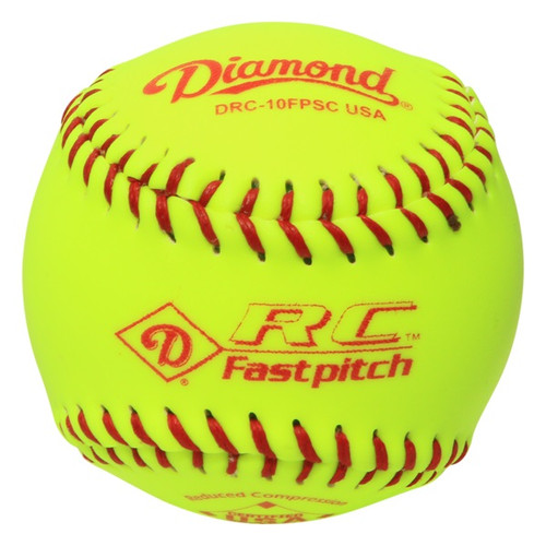 Diamond 10-Inch reduced Compression Synthetic Cover Softballs (Dozen) DRC-10FPSC USA