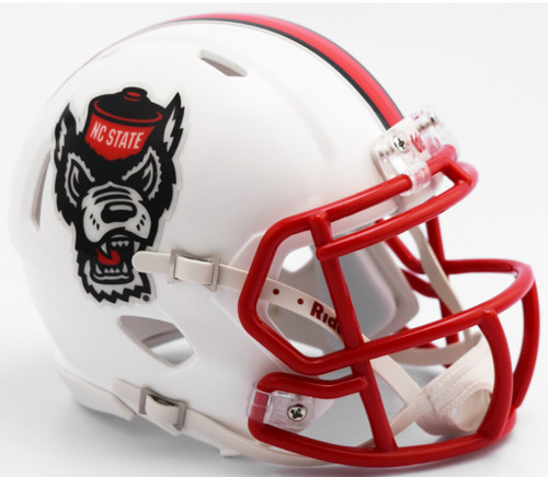 North Carolina State Wolfpack Alternate White Tuffy NCAA Riddell SPEED Mini Helmet
