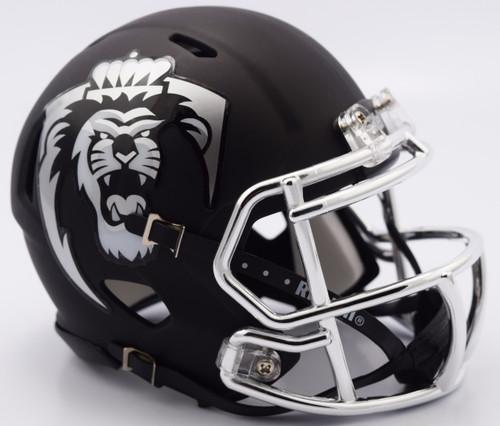 Old Dominion Monarchs Alternate Chrome Matte Riddell Speed Mini Football Helmet