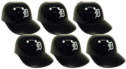 Detroit Tigers MLB 8 oz Snack Size / Ice Cream Mini Baseball Helmets - Quantity 6