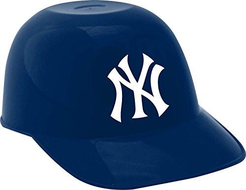 New York Yankees MLB 8oz Snack Size / Ice Cream Mini Baseball Helmets - Quantity 6
