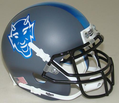Duke Blue Devils Alternate Grey Schutt Mini Authentic Football Helmet