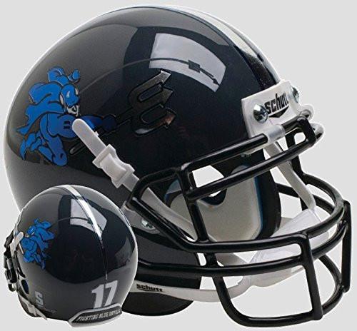 Duke Blue Devils Black Chrome Schutt Mini Authentic Football Helmet
