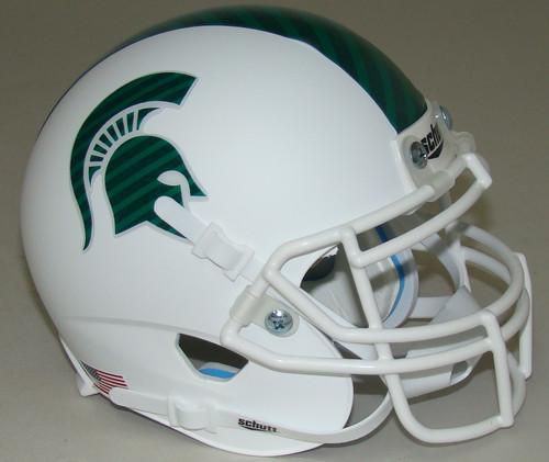 Michigan State Spartans Alternate White Schutt Mini Authentic Football Helmet