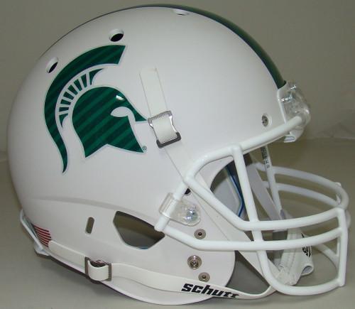 Michigan State Spartans Matte White Schutt Full Size Replica XP Football Helmet