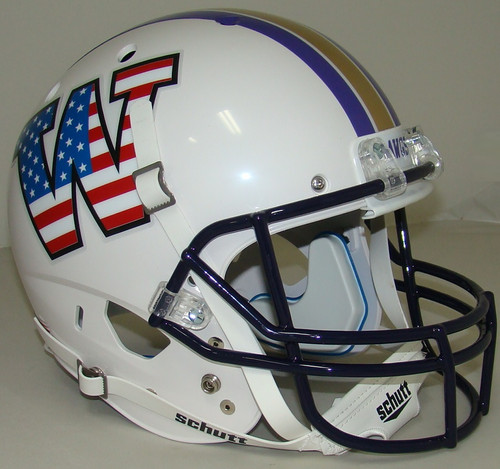 Washington Huskies Alternate Patriotic Schutt Full Size Replica XP Football Helmet