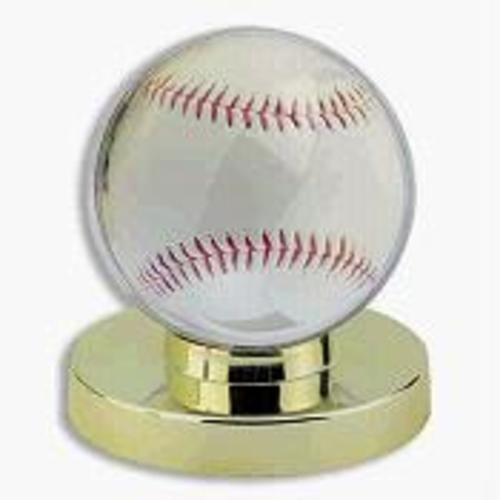 6 DELUXE GOLD BASE BASEBALL DISPLAY CASES