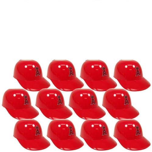 Los Angeles Angels MLB 8oz Snack Size / Ice Cream Mini Baseball Helmets - Quantity 12