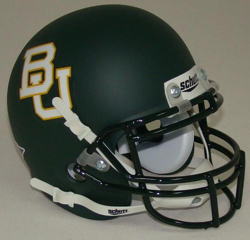 Baylor Bears (Green Matte) Schutt Mini Authentic Helmet