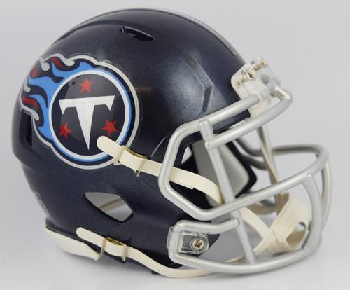 Tennessee Titans 2018 Satin Navy Metallic Revolution SPEED Mini Helmet