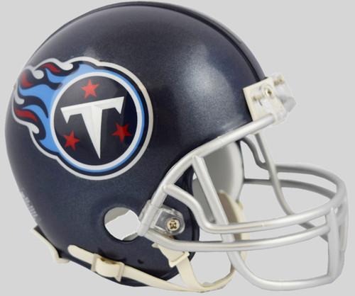 Tennessee Titans 2018 Satin Navy Metallic Riddell Mini Helmet