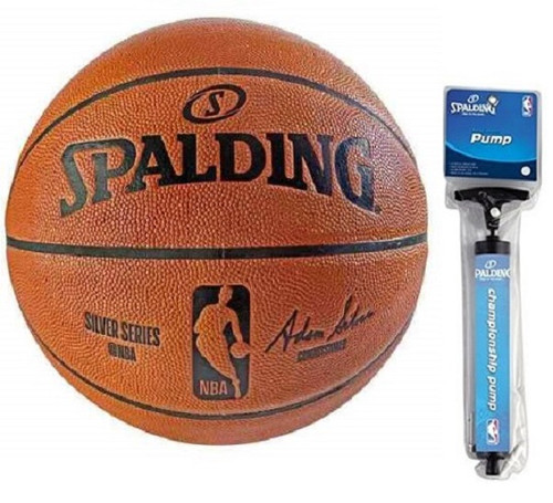 Spalding NBA Indoor/Outdoor Replica Game Ball Basketball (Unboxed) with Pump