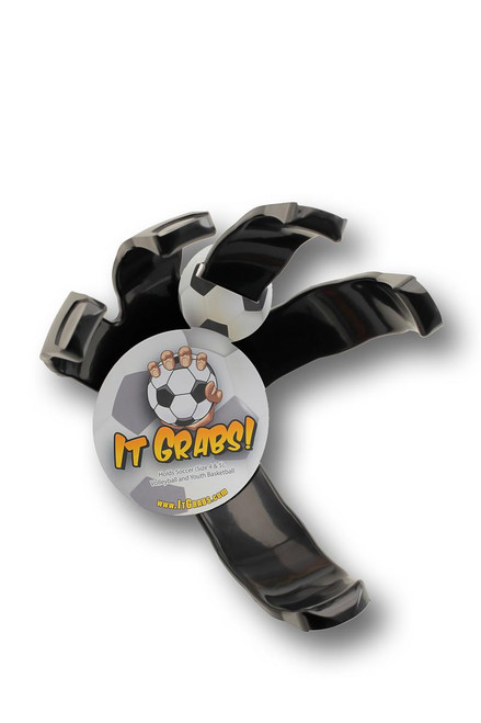 It Grabs Soccer / Volleyball Sports Ball Holder - Wall Display Holder - Like Ball Claw