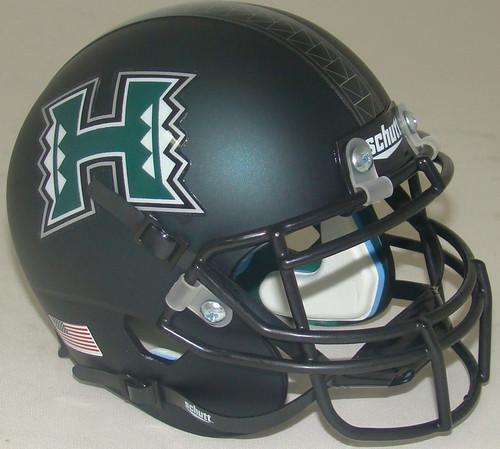 Hawaii Rainbow Warriors Alternate Matte Dark Green Schutt Mini Authentic Football Helmet