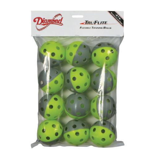 Diamond TruFlite Flexible Training Baseballs - 12PK