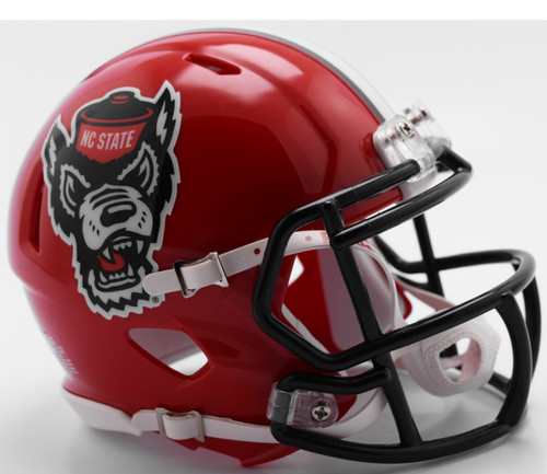 North Carolina State Wolfpack 2018 Alternate Red Tuffy NCAA Riddell SPEED Mini Helmet