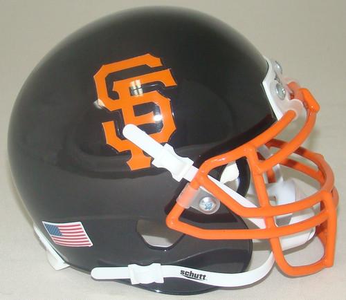 San Francisco Giants Schutt Mini FOOTBALL Helmet