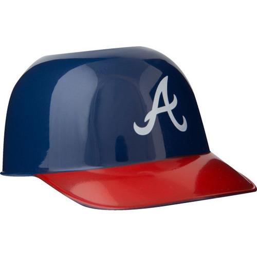 Atlanta Braves MLB 8oz Snack Size / Ice Cream Mini Baseball Helmets - Quantity 6