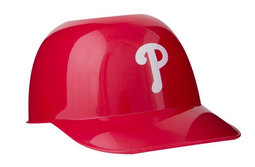 Philadelphia Phillies MLB 8oz Snack Size / Ice Cream Mini Baseball Helmets - Quantity 6