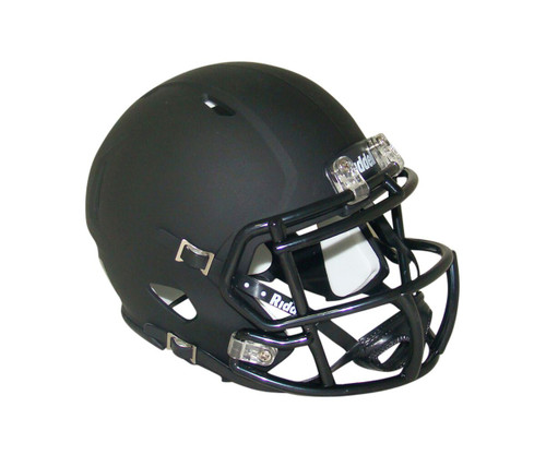 Matte Black Blank Riddell Revolution SPEED Mini Football Helmet