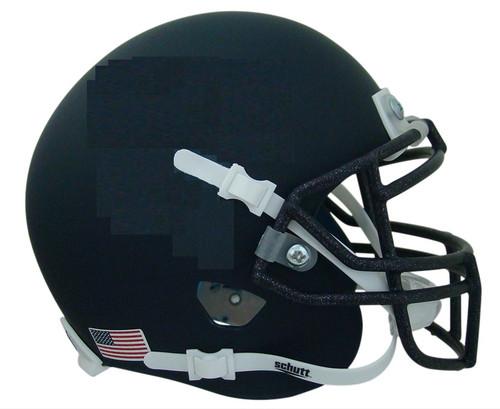 Navy Blue Flat Matte Blank Schutt Mini Football Helmet