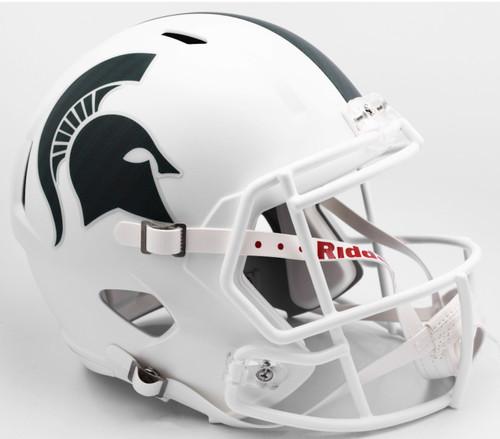 Michigan State Spartans WHITE SPEED Riddell Full Size Replica Helmet