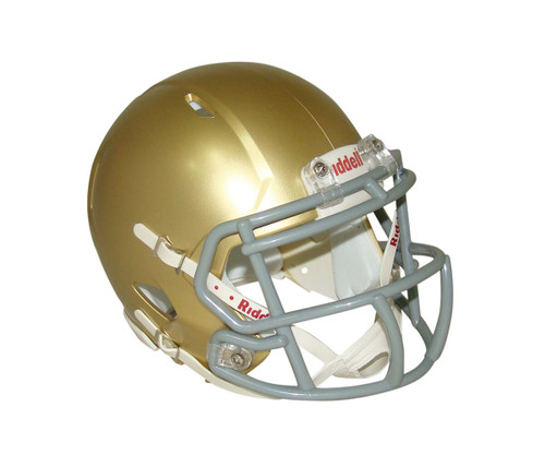 Gold (South Bend) Blank Riddell Revolution SPEED Mini Football Helmet