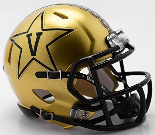 Vanderbilt Commodores NCAA Revolution New 2018 GOLD SPEED Mini Helmet