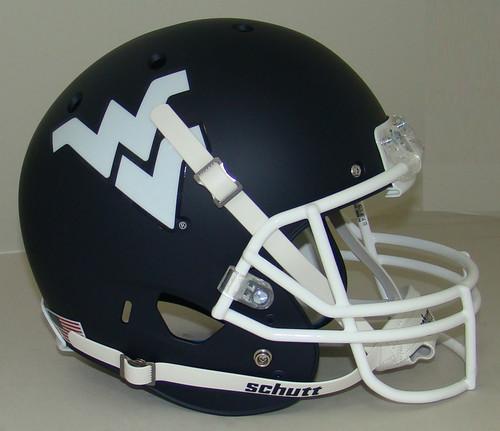 West Virginia Mountaineers Alternate Matte Navy Schutt Full Size Replica XP Football Helmet