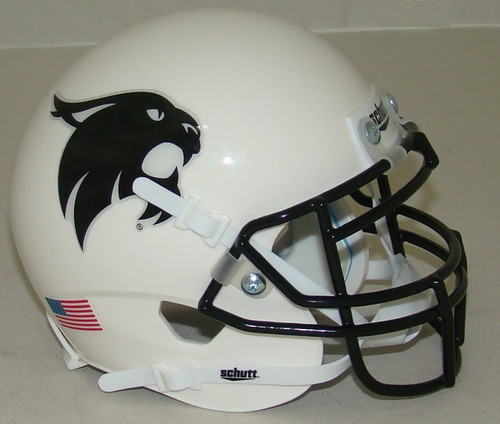 Texas State Bobcats Alternate White with Black Mask Schutt Mini Authentic Football Helmet