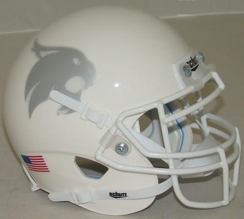 Texas State Bobcats Alternate White Schutt Mini Authentic Football Helmet