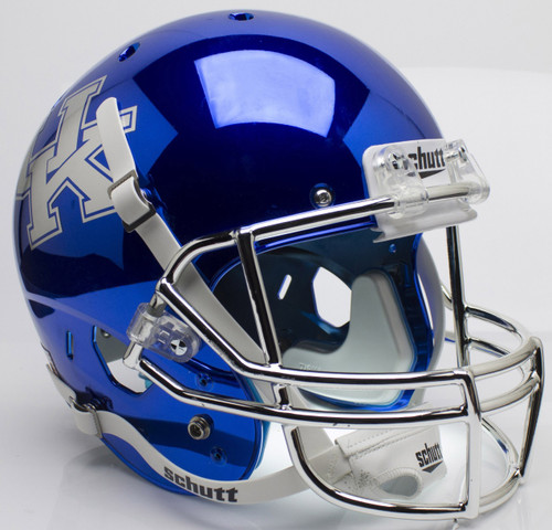Kentucky Wildcats Blue Chrome Schutt Full Size Replica XP Football Helmet