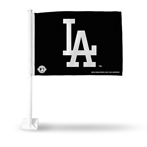 Los Angeles Dodgers Black Car Flag