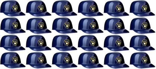 Milwaukee Brewers MLB 8oz Snack Size / Ice Cream Mini Baseball Helmets - Quantity 24