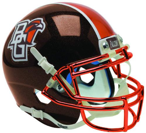 Bowling Green Falcons Alternate Brown Chrome Schutt Authentic Mini Football Helmet