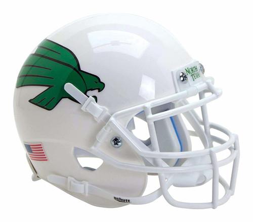 North Texas Mean Green Alternate White Schutt Authentic Mini Football Helmet