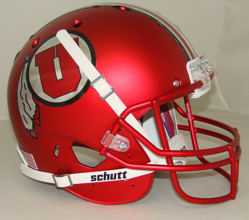 Utah Utes Alternate 16 Satin Red Schutt Full Size Replica XP Football Helmet