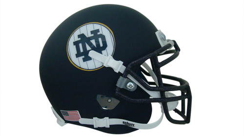 Notre Dame Fighting Irish Alternate Navy Pinstripe Schutt Mini Authentic Football Helmet
